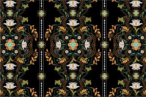 2 Folk Seamless Patterns