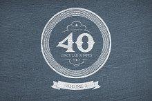40 Circular Shapes - Vector - Vol. 2