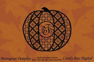 Monogram Pumpkin Silhouette