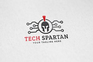 Tech Spartan Logo Template