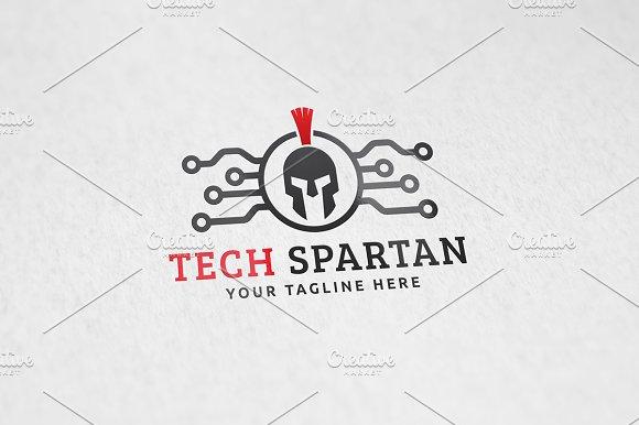 Tech Spartan Logo Template