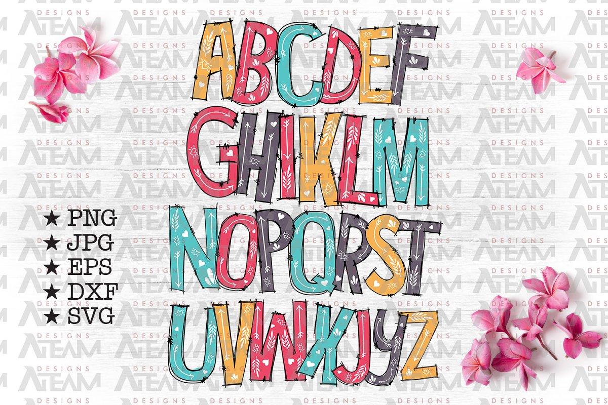 Full Alphabet Svg Cut Files