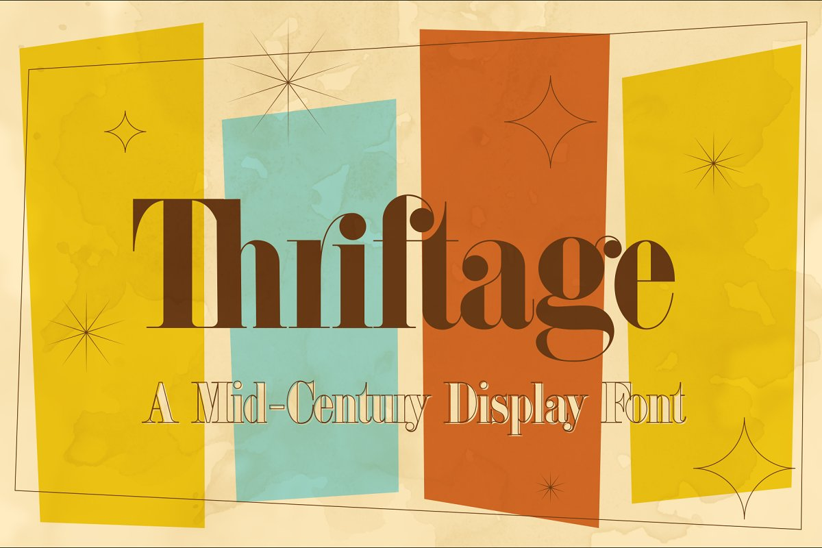 Thriftage Font + Extras ~ Display Fonts ~ Creative Market