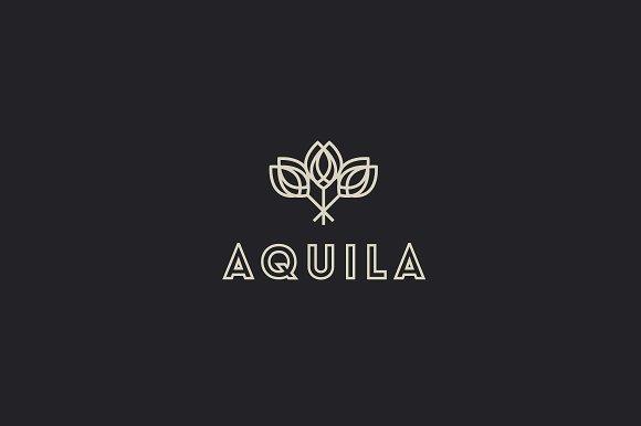 Abstract elegant flower logo