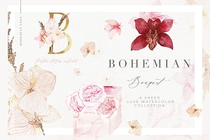 Boho Invitation Photos Graphics Fonts Themes Templates