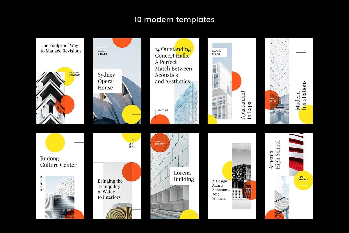 10款企业营销宣传广告INS风海报模板 Instagram Stories Kit (Vol.21)插图(1)