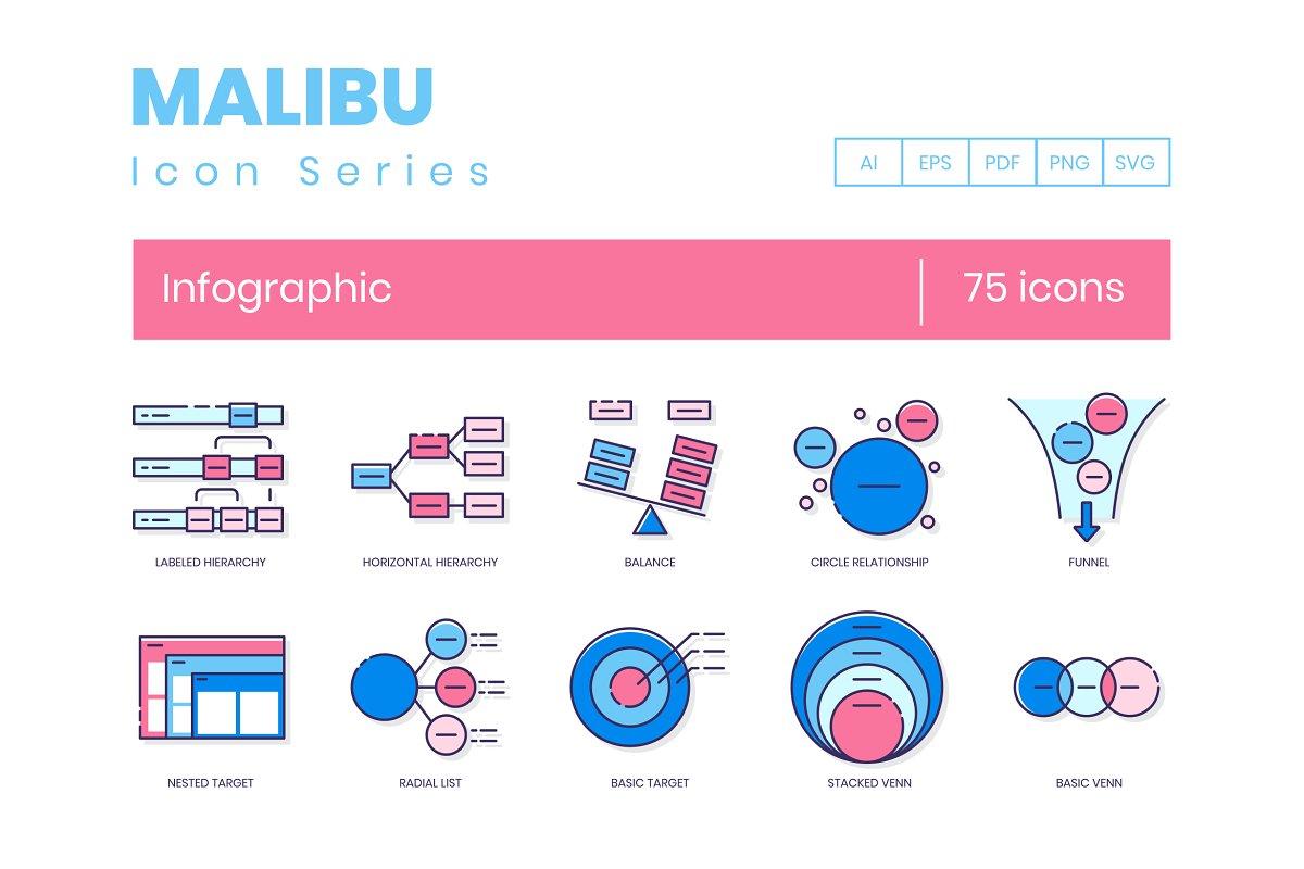 75 Infographic Icons | Malibu