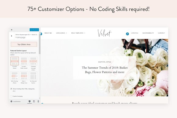 Modern Blog & Shop Theme - Velvet