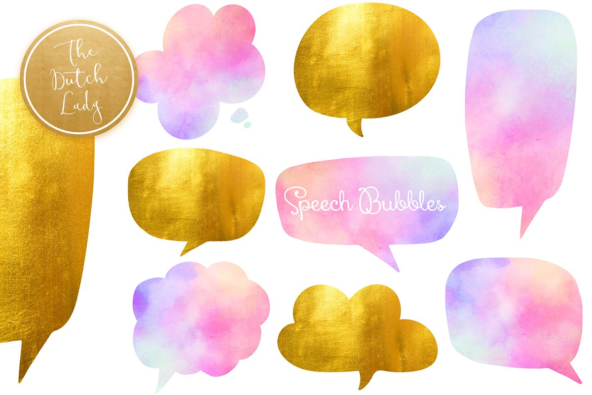 Speech Bubble Clipart Set ~ Illustrations ~ Creative Market