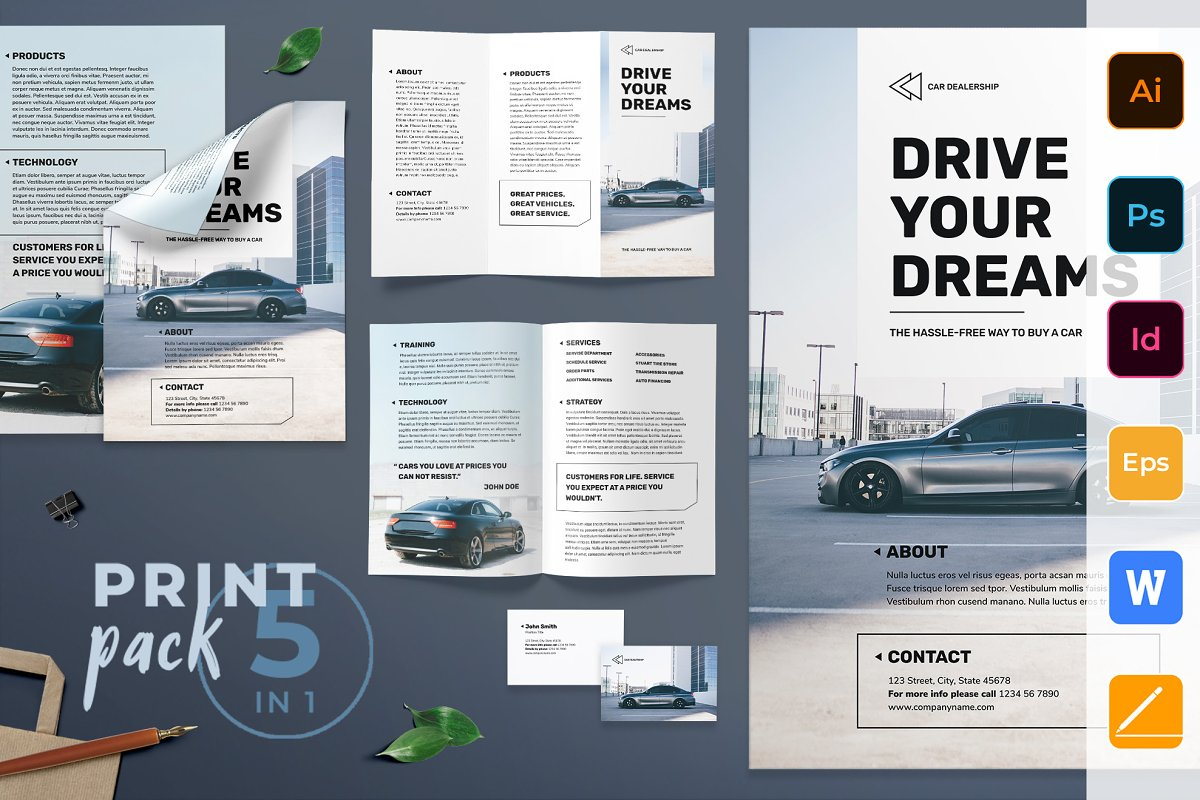 Car Dealership Print Pack Templates Creative Market
