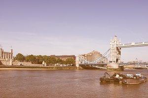 Vintage Tower Bridge in London