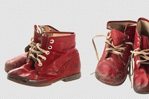 Vintage baby shoes PNG