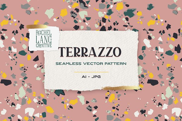 Graphics: Rachel Lang Creative - Terrazzo Seamless Vector Pattern