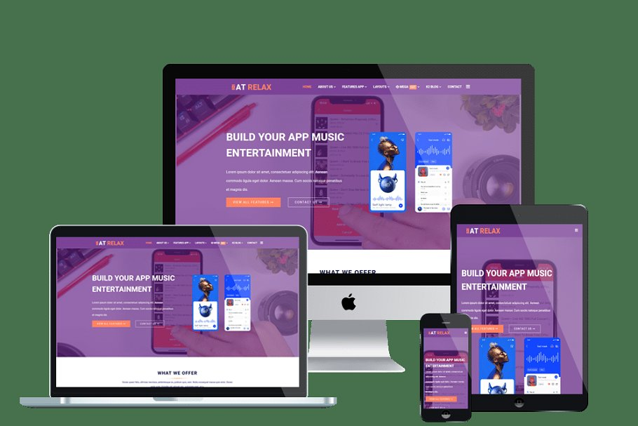 AT Relax Onepage Joomla App Template