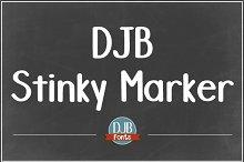 DJB Stinky Marker Font