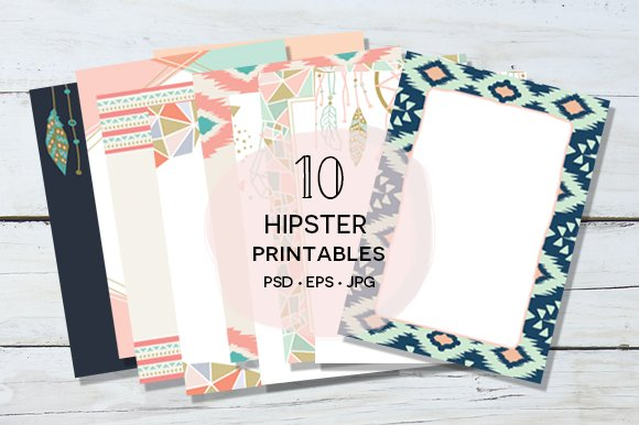 10 Hipster Printables Suite