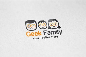 Geek Family - Logo Template