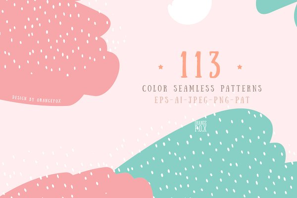 Graphics - 113 Color seamless patterns