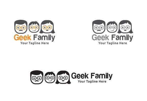 geek family logo template logo templates creative market