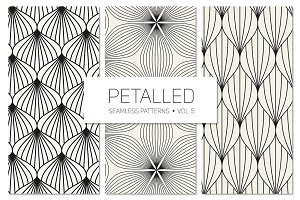 Petalled Seamless Patterns Set 5
