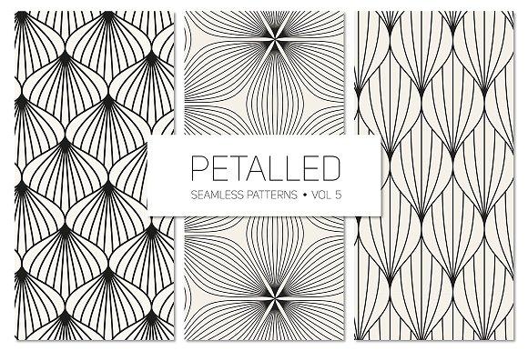 Petalled Seamless Patterns Set 5