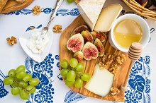 Figs, cheese, honey, grapes,aperitiv