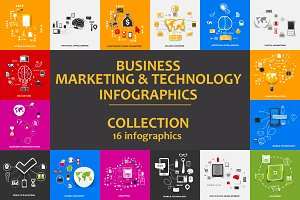 16 sticker infographics