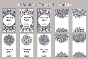 Minimal Business Cards with Mandala