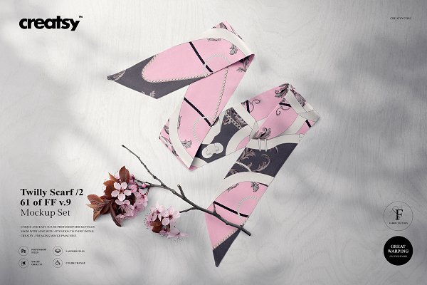 Silk Scarf Mockup Set Edition 2 ~ Product Mockups ~ Creative Market