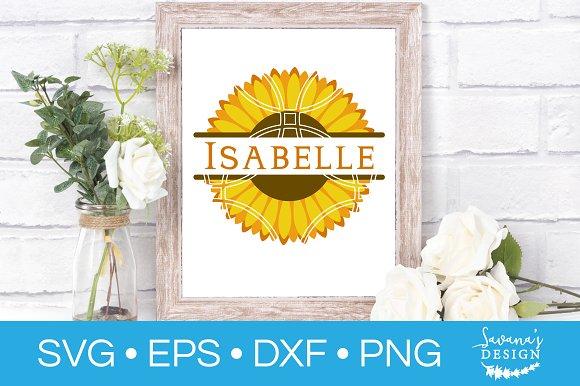 Sunflower Monogram SVG Cut File