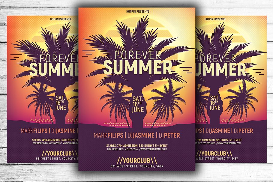 Summer Flyer | Poster Psd Template