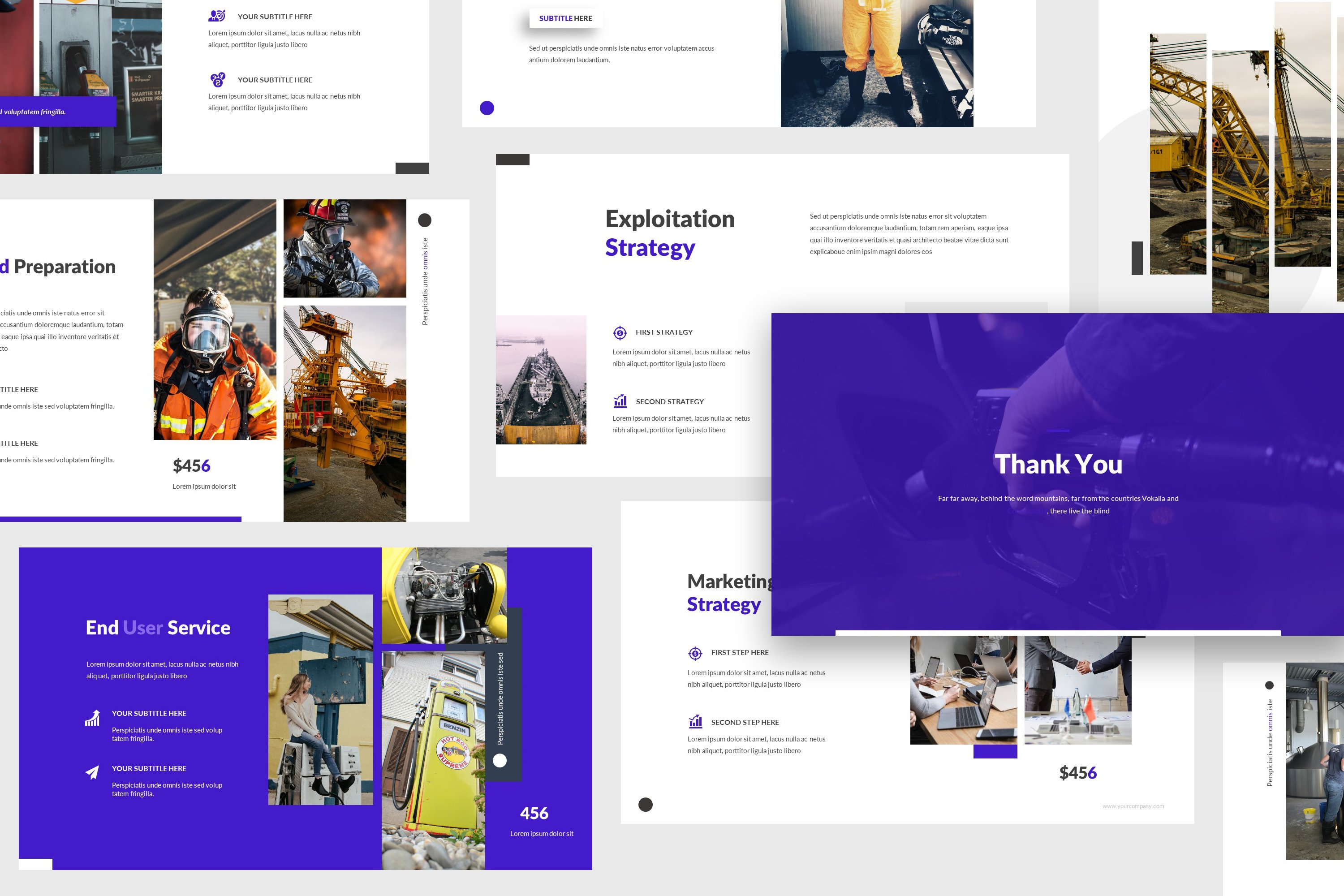 Oil And Gas Powerpoint Template Creative Powerpoint Templates Creative Market