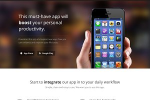 App Landing Page (iPhone, iPad, MBA)