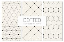 Dotted Seamless Patterns. Set 6