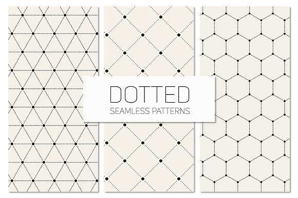 Dotted Seamless Patterns. Set 6
