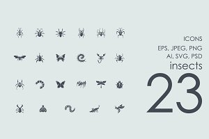 23 insects icons