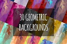 30 Geometric Backgrounds
