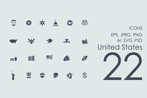 22 United States icons