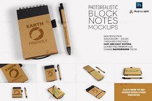 Photorealistic Block Notes Mockup