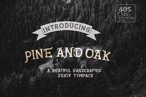 Pine and Oak Font Pack(70% OFF)