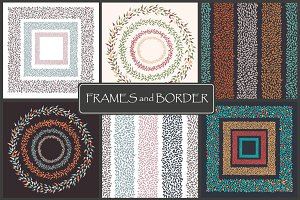 Frames and borders. Round + square.