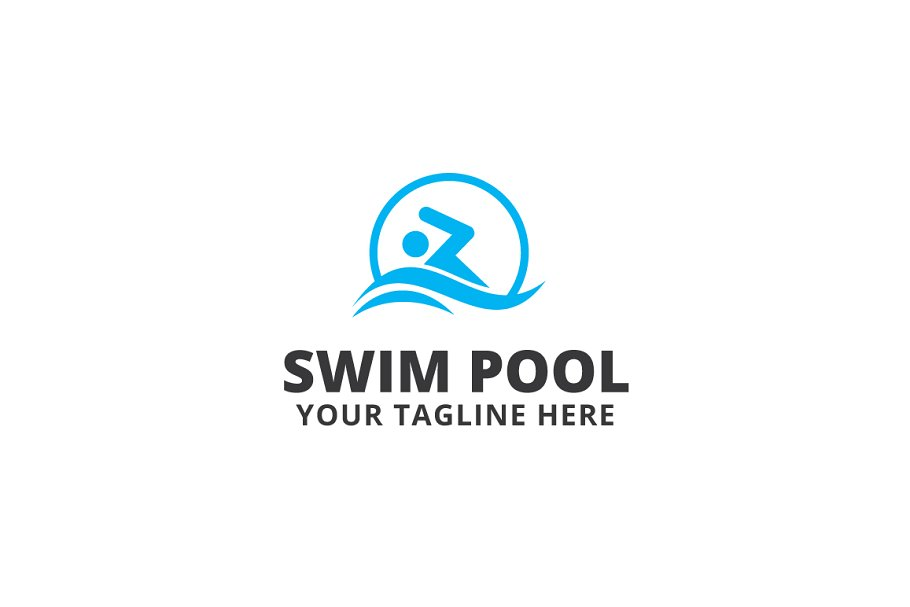 Swim Pool Logo Template