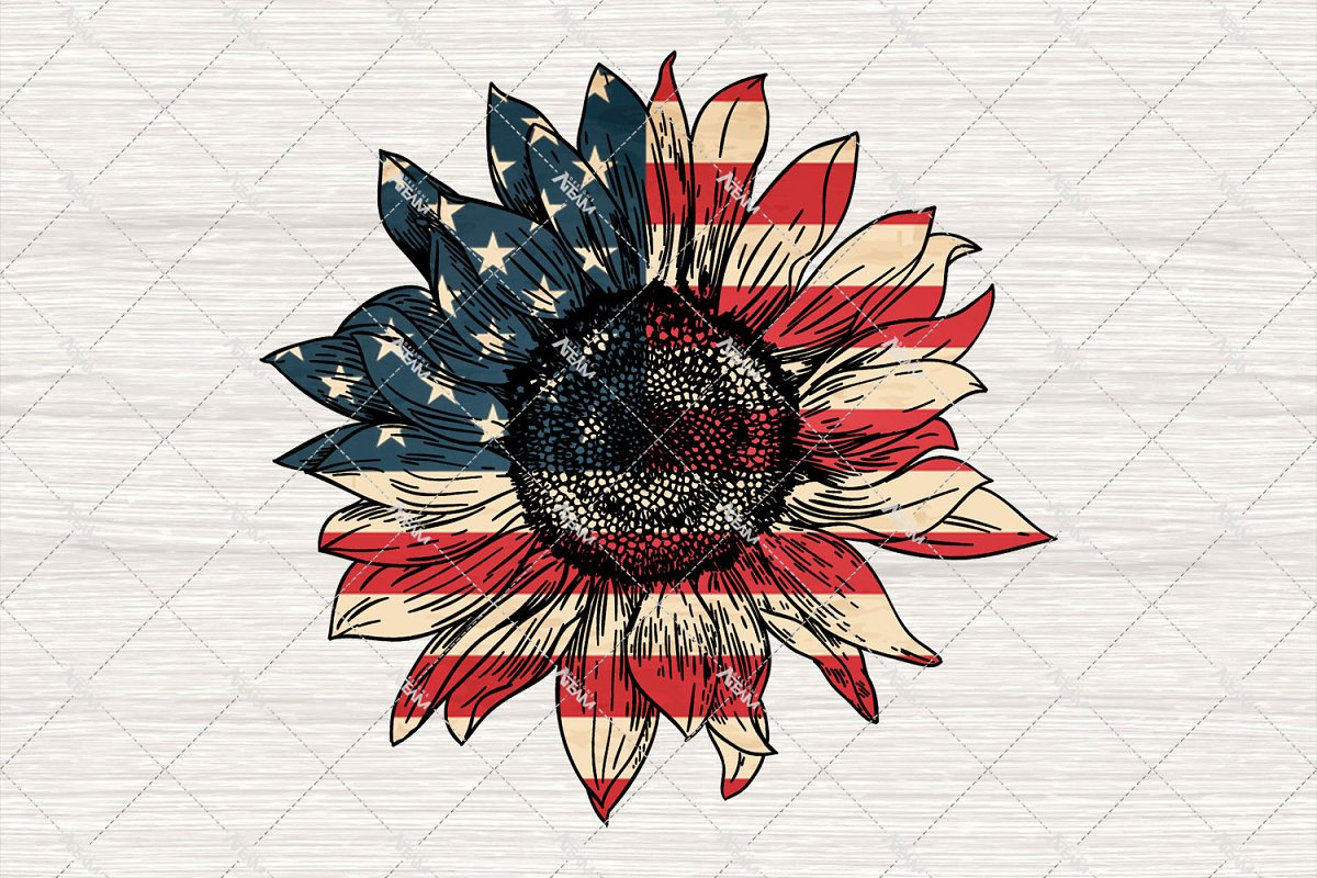 Hippie Png, American Sunflowers Png