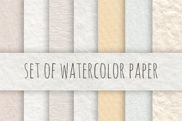 Watercolor Paper Set