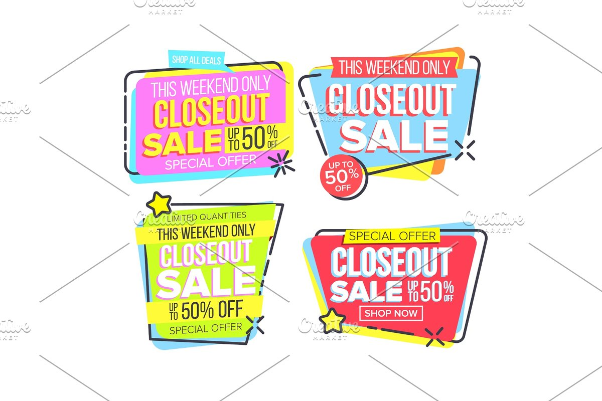 Closeout Sale Template Banner In