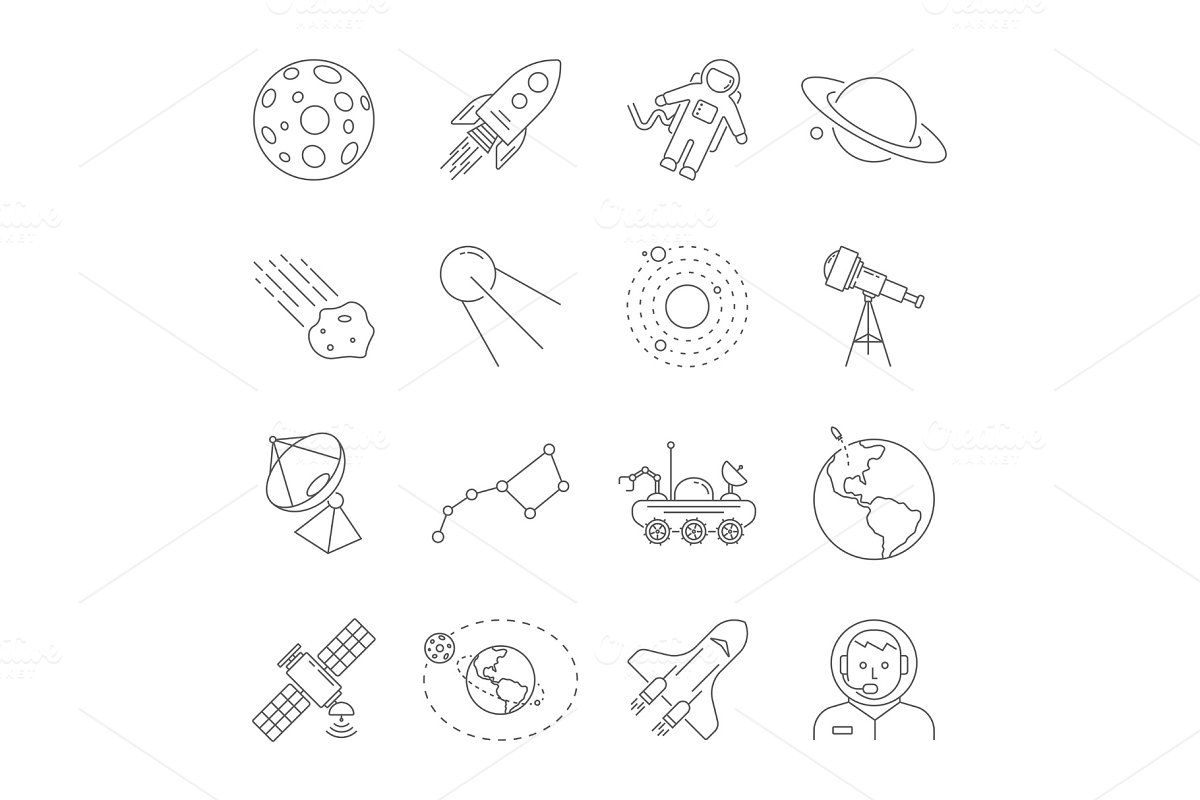 Astronomy and Space symbols