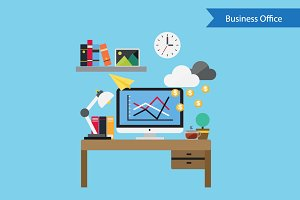 Flat Design Concept Business Finance