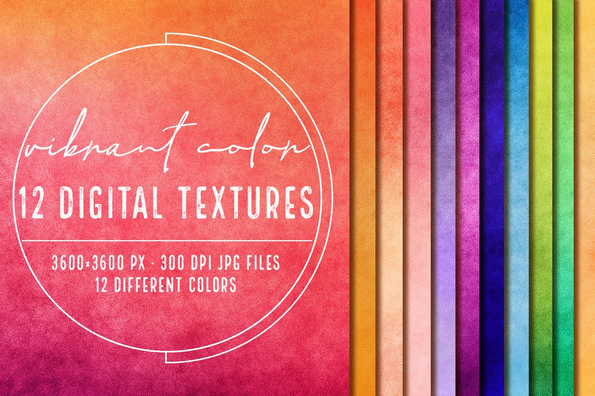 12 Vibrant digital papers - textures