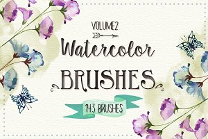 143 Watercolor Brushes