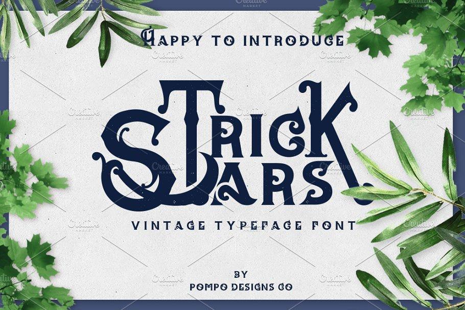 TrickStars Font + Extra Ornaments